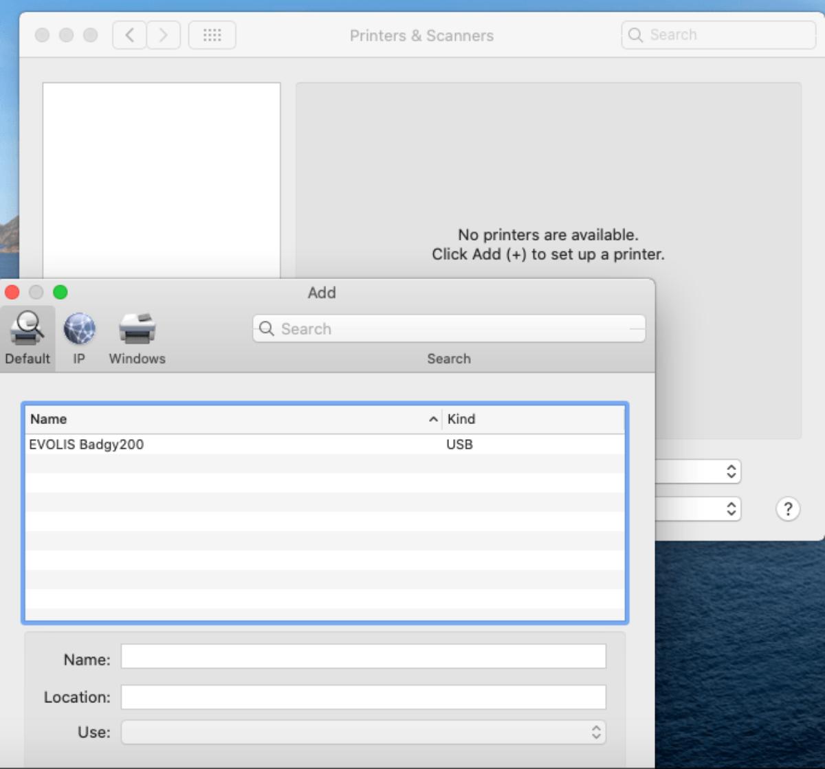 Ajouter une nouvelle imprimante aux préférences systèmes - Apple