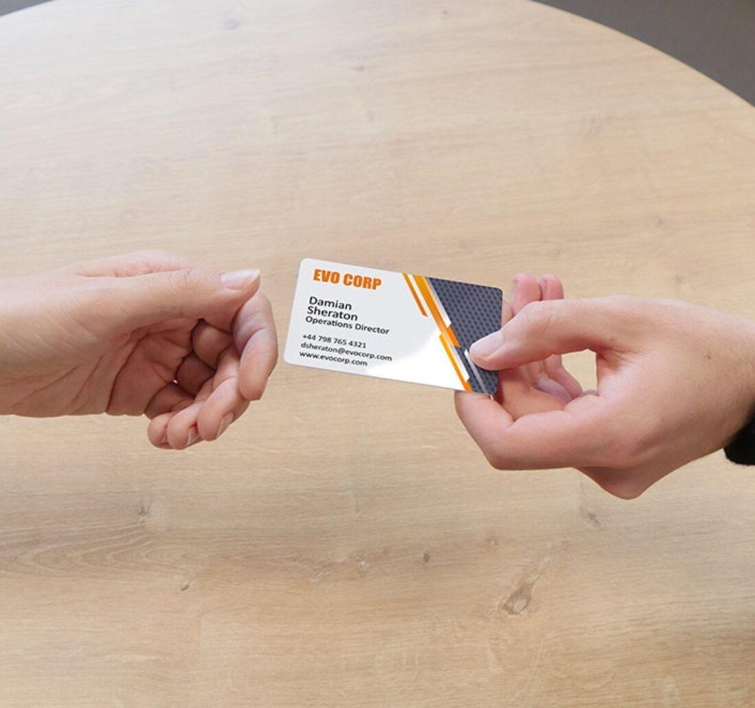 carte de visite personnalisée avec l'imprimante Badgy