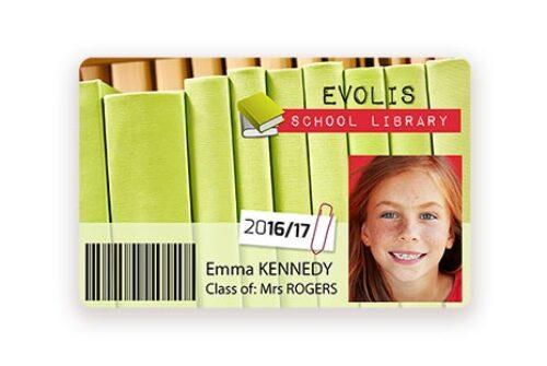 Cartes bibliothèque Badgy