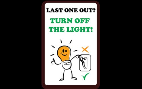 Carte de signalétique intérieure pour les lumières imprimé avec l'imprimante Badgy